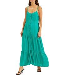 women's sanctuary traveler sleeveless maxi dress, size x-large - green