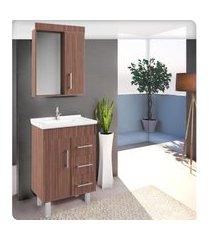 conjunto banheiro compacto 60cm palermo lilies móveis