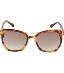 55mm faux tortoiseshell square sunglasses