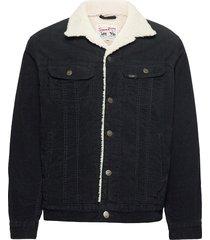 sherpa jacket jeansjack denimjack zwart lee jeans