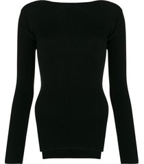 alexander wang ribbed knit sweater - black