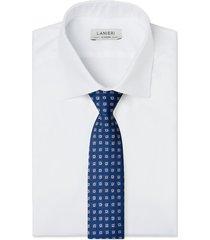 cravatta su misura, lanieri, blu optical, quattro stagioni
