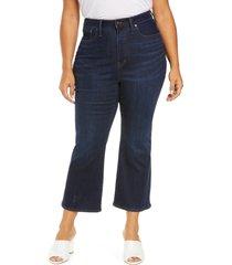 plus size women's madewell curvy cali crop demi bootcut jeans, size 20w - blue