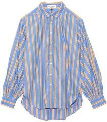 kit shirt in blue stripe