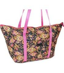bolsa ana viegas tote-shopper tecido espaçosa praia feminina