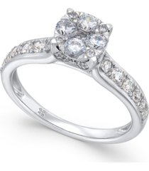 diamond composite engagement ring (1 ct. t.w.) in 14k white or yellow gold