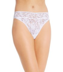women's hanky panky original rise thong, size one size - white