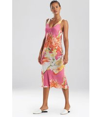 painted bouquet nightgown, women's, pink, size l, n natori
