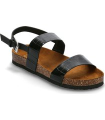 onlmaxi-1 pu crock slingback sandal shoes summer shoes flat sandals svart only