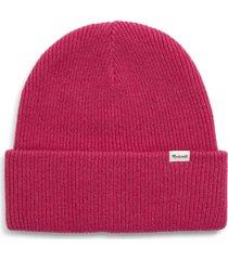 women's madewell cuffed wool beanie - pink