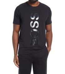men's boss fashion logo graphic tee, size medium - black