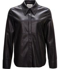 nanushka vegan leather shirt