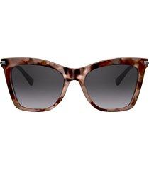 valentino eyewear studded arms cat-eye sunglasses - pink