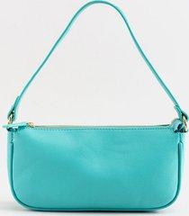 women's kyla pebbled baguette shoulder bag in light blue by francesca's - size: one size