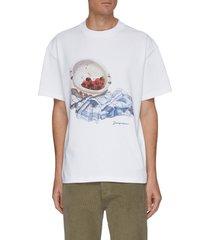 'le t-shirt cerises' cherry graphic print cotton t-shirt