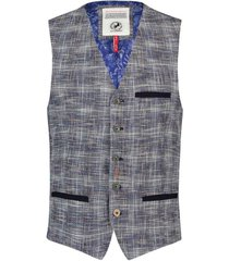 blauw bruin gilet a fish named fred billie