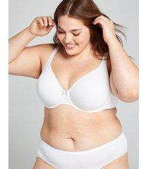 lane bryant women's cotton unlined demi bra 42d white