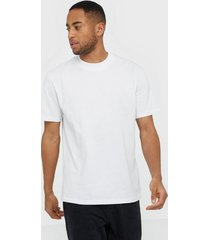selected homme slhrelaxclean ss o-neck tee b t-shirts & linnen vit