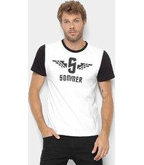 camiseta sommer manga curta masculina