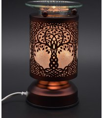 copper tree of life touch lamp oil/tart warmer - use with scentsy wax