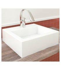 cuba de apoio para banheiro channel mármore bosi branca