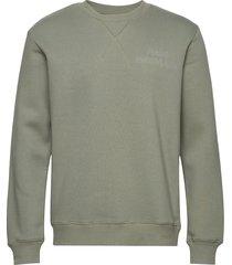 new standard crewneck emb sweat-shirt trui groen mads nørgaard