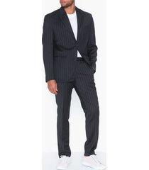selected homme slhslim-drew navy stripe kavajer & kostymer