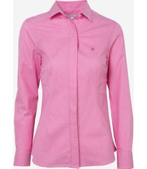 camisa dudalina manga longa tricoline fio tinto match feminina (listrado, 46)