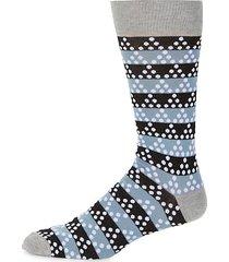 striped & dot-print crew socks