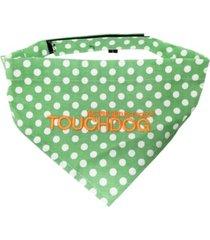 touchdog 'bad-to-the-bone' polka patterned fashionable stay-put bandana large