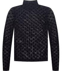 'mesh' long-sleeved top