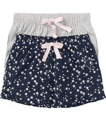 pantaloni pigiama corti (pacco a 2) (blu) - bpc bonprix collection