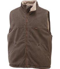wolverine men's upland vest (big & tall) bison, size xlt