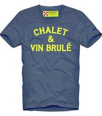 mc2 saint barth t-shirt man chalet & vin brulé neon yellow print