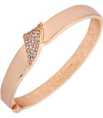 t tahari wrapped in ribbons hinged bangle bracelet