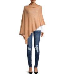 portolano women's cashmere poncho - camel