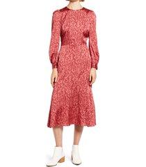 women's chelsea28 print long sleeve midi dress, size x-large - red