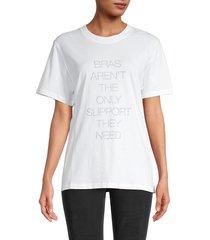 iro women's graphic cotton tee - white - size xs