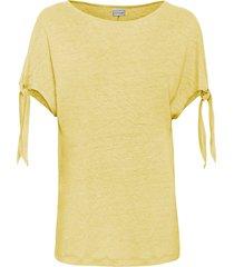 maglia boxy in lino (giallo) - bodyflirt