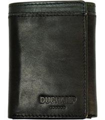duchamp london men's rfid genuine leather tri-fold wallet