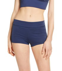 women's nike swim kick shorts, size large - blue
