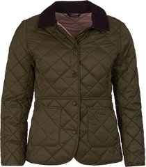 barbour deveron quilted jacket / barbour deveron quilted jacket, olive/pale pink, 16