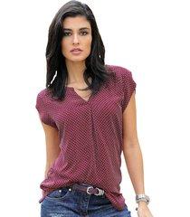 blus alba moda bordeaux::röd