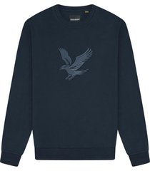 lyle and scott ml1354v lyle&scott embroidered eagle sweatshirt, z271 dark navy