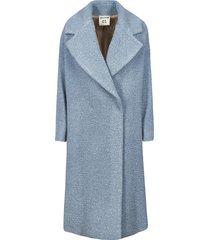 semicouture wide lapel coat