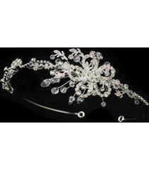jan swarovski crystal & rhinestone floral wedding bridal headband