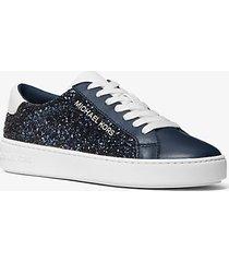 mk sneaker iona con glitter - navy (blu) - michael kors