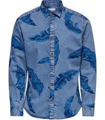 onslukas floral chambray shirt