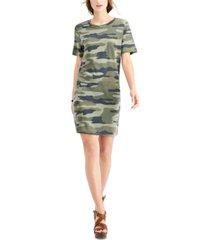 lucky brand camo-print t-shirt dress
