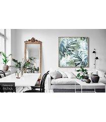 liściasty obraz - dekoracja ścienna
